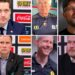 Tror ni någon av de 14 SHL-tränarna får sparken i år? Vet ni hur länge de suttit? På bilden: Sam Hallam, Barry Smith, Mikko Manner, Roger Rönnberg, Robert Ohlsson och Joakim Fagervall.