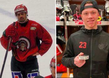 Patrik Carlsson borde in i PP1, tycker jag. Lucas Raymond gjorde sitt första NHL-mål i natt. Foto (Raymond): DETROIT RED WINGS